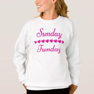 Suéter rosado divertido lindo del corazón de