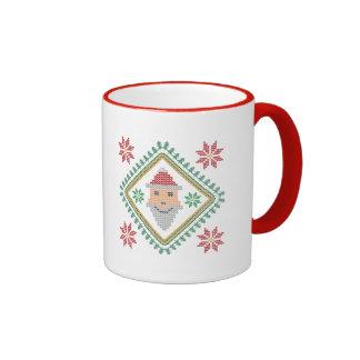 Suéter sonriente del navidad del día de fiesta de taza de dos colores