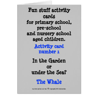 Suff preescolar de la diversión tarjeta