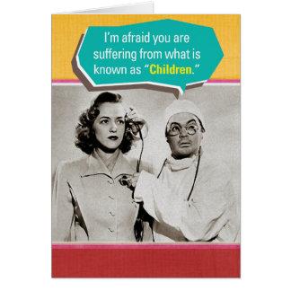 Sufrimiento de tarjeta de felicitación del día de