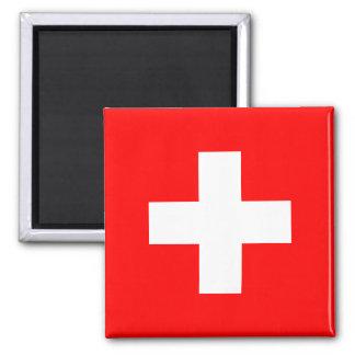 Suiza - bandera suiza imán cuadrado