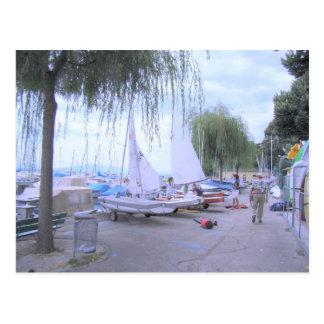 Suiza, el lago Lemán, Nyon, puerto deportivo Tarjetas Postales