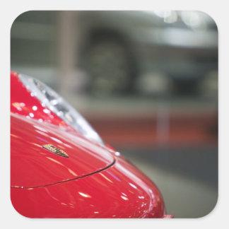 SUIZA, GINEBRA: 75.o Auto anual 2 de Ginebra Calcomania Cuadrada Personalizada
