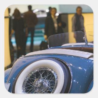 SUIZA, GINEBRA: 75.o Auto anual 7 de Ginebra Pegatinas Cuadradas Personalizadas