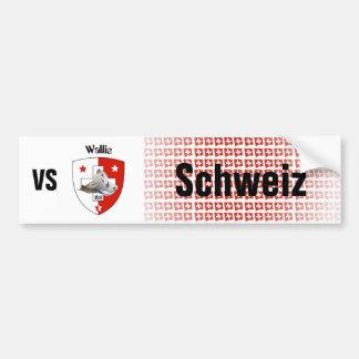 Suiza Svizzera Suisse Wallis pegatina de automóvil Pegatina Para Coche