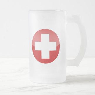 Suiza Taza De Cristal Esmerilado