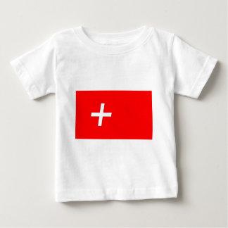 Suizo-Bandera Camiseta De Bebé