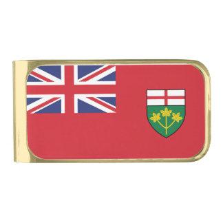 Sujeta Billetes Dorado Bandera de Ontario