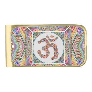 Sujeta Billetes Dorado Colección de la joya del mantra de OM