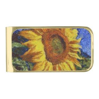 Sujeta Billetes Dorado Girasol en el estilo de Van Gogh