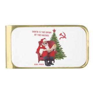Sujeta Billetes Dorado Karl Marx Santa