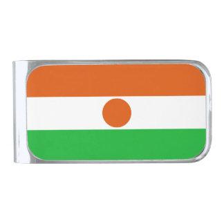 Sujeta Billetes Plateado Bandera de Niger