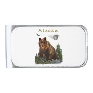 Sujeta Billetes Plateado Mercancía de Alaska