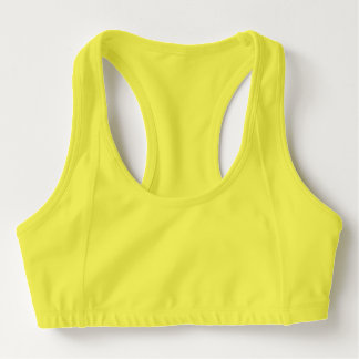 Sujetador de los deportes de las mujeres, amarillo sujetador deportivo