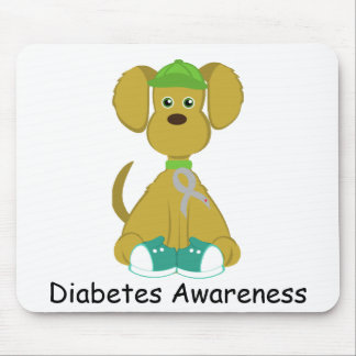Sully el cojín de ratón del perro de la diabetes - tapete de ratón