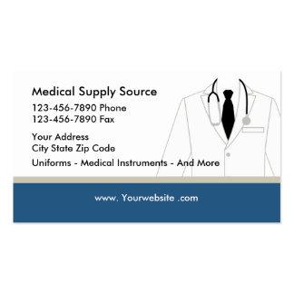Suministro médico tarjetas de visita