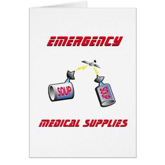 Suministros médicos de la emergencia tarjeta de felicitación