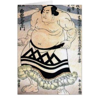 Sumo-luchador japonés tarjeta de felicitación