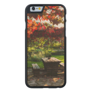 Sun a través de las hojas de otoño, Croacia Funda De iPhone 6 Carved® Slim De Arce