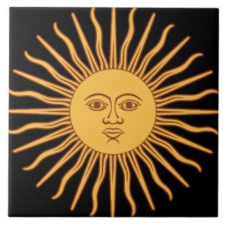 Sun Azulejo Cuadrado Grande