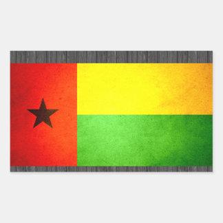 Sun besó la bandera de Guinea-Bissau Pegatina Rectangular