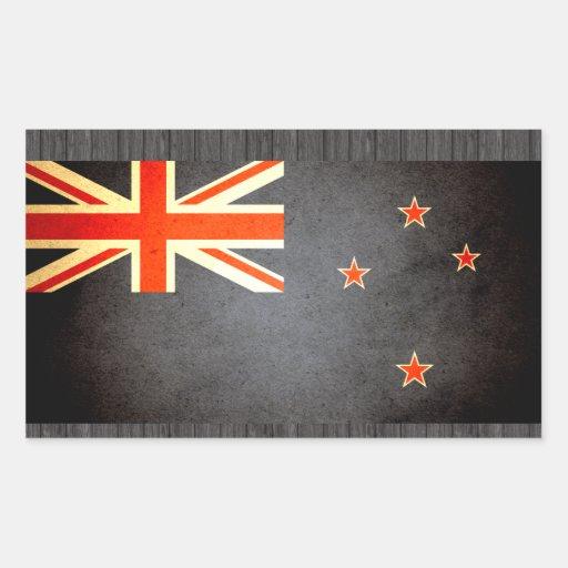Sun besó la bandera de Nueva Zelanda Pegatinas