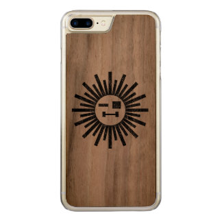 Sun de un arma funda para iPhone 8 plus/7 plus de carved