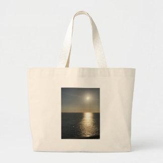 Sun en el agua bolso de tela gigante