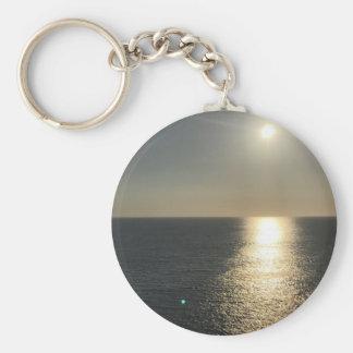 Sun en el agua llavero