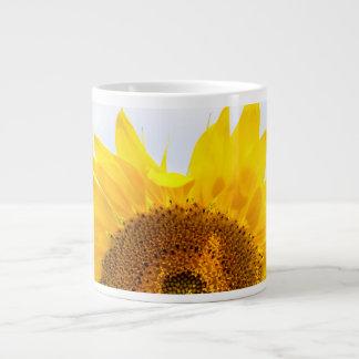 Sun encima de la taza del girasol