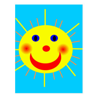 Sun feliz hace frente postal