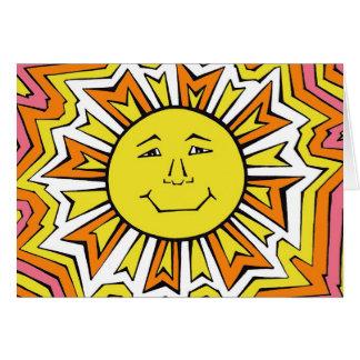 Sun feliz tarjeta de felicitación
