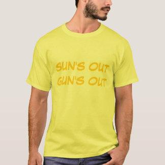 """""""Sun hacia fuera dispara contra hacia fuera"""" la Camiseta"""