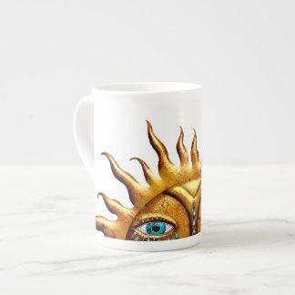 Sun Jeweled, taza de la porcelana de hueso