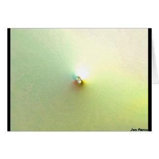 Sun pálido tarjeta de felicitación