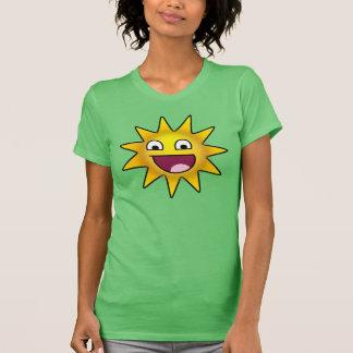 Sun ridículo feliz camisetas