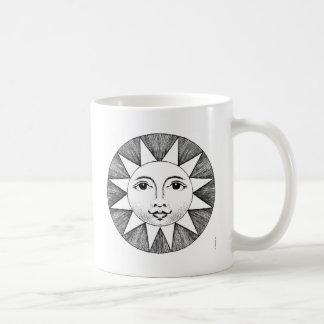 Sun sonriente taza de café