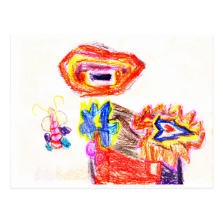 Sun y jGibney Flower1 la serie K del artista del Postal