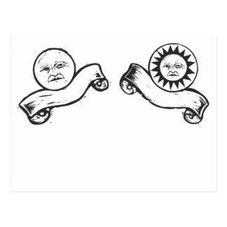 Sun y luna postal