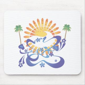 ¡Sun y resaca!  Arte del vector: Alfombrilla De Ratones