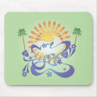 ¡Sun y resaca!  Arte del vector: Mousepad Tapetes De Ratón