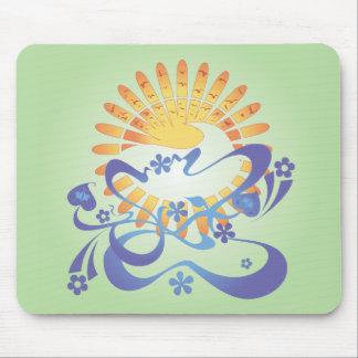 ¡Sun y resaca!  Arte del vector: Mousepad Tapetes De Ratones