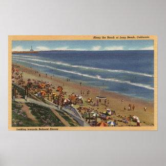 Sunbathers que miran hacia las orillas de Belmont Impresiones