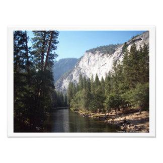 """""""Sunnyside poster del valle de Yosemite del río"""" Cojinete"""