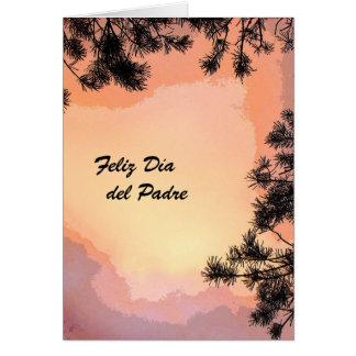 Sunset penosa Dia del Padre Tarjeta De Felicitación