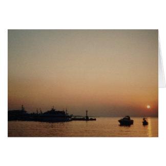 Sunset Tarjeta