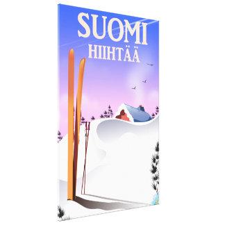Suomi Hiihtää (Finlandia a esquiar) Lienzo