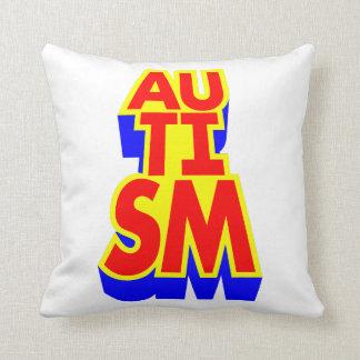 Super héroe del autismo cojín decorativo
