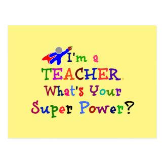 Super héroe del profesor postal