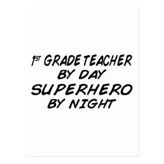 Super héroe por la noche - 1r grado postal
